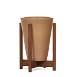 case study® desktop funnel planter with wood stand  -