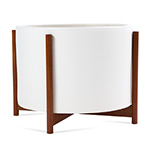 case study large high pan with wood stand  - modernica