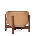 case study raised table top planter with wood stand  -
