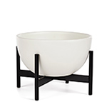 case study® table top bowl with metal stand  -