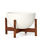 case study table top bowl with wood stand  - modernica