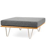 case study® v-leg daybed convertible square ottoman  -