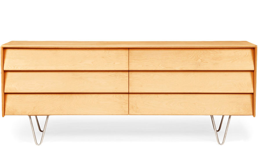 case study® v-leg double wide dresser
