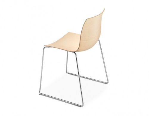 catifa 46 wood side chair with sled base