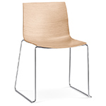 catifa 46 wood side chair with sled base  -