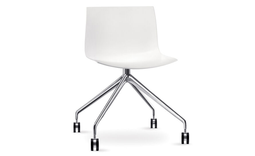 catifa 53 polypropylene chair with trestle base