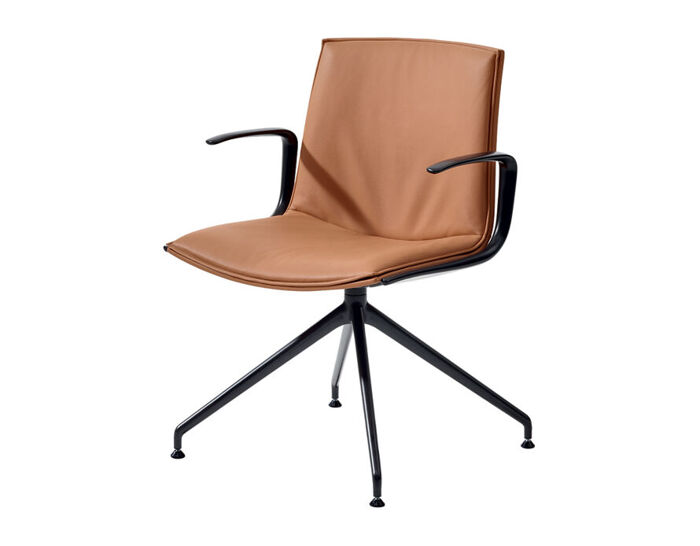 catifa up soft chair with trestle base