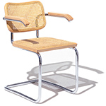 cesca chair with cane seat  -