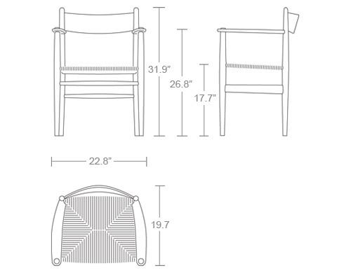 Ch37 Dining Chair Hivemodern Com
