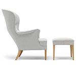 fh419 heritage lounge chair & ottoman  -