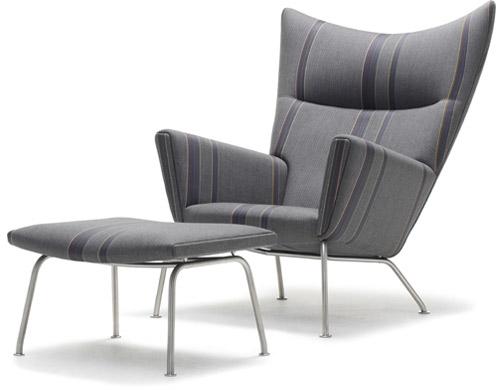 Ch445 Lounge Chair U0026 Ch446 Footrest
