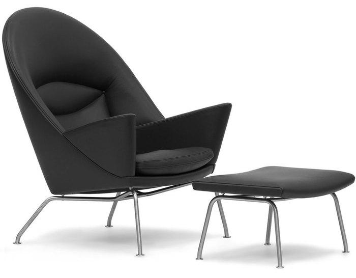 ch468 oculus lounge chair & ch446 footrest