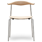 hans wegner ch88p stacking chair with upholstered seat  -