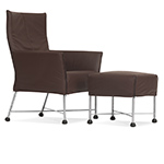 charly lounge chair & ottoman  -