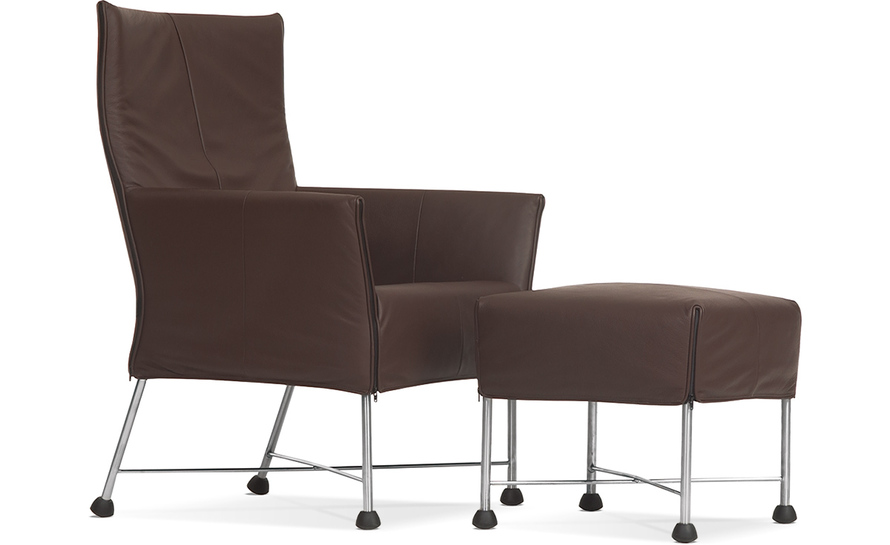 charly lounge chair & ottoman