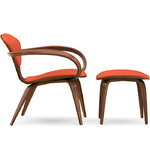 cherner lounge arm chair & ottoman  -