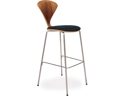 Cherner Metal Leg Stool With Upholstered Seat Hivemodern Com