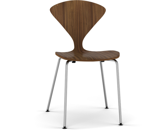 cherner metal leg stacking side chair