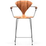 cherner metal leg stool with arms  -
