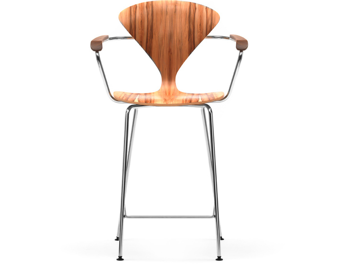 cherner metal leg stool with arms