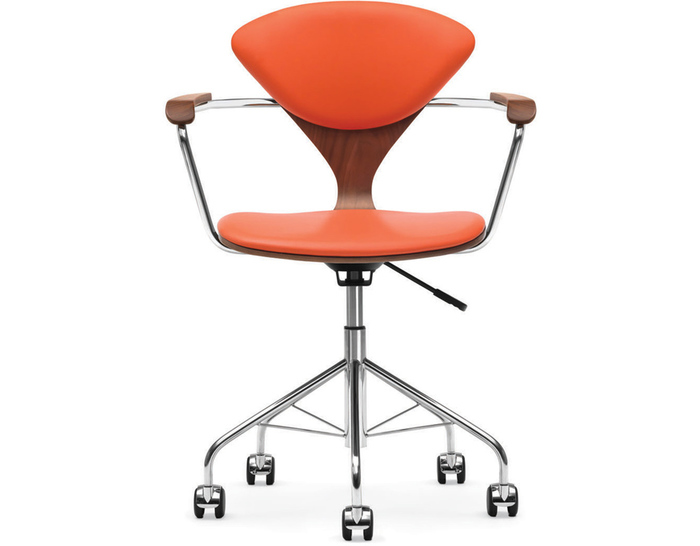 cherner task arm chair with upholstered seat & back
