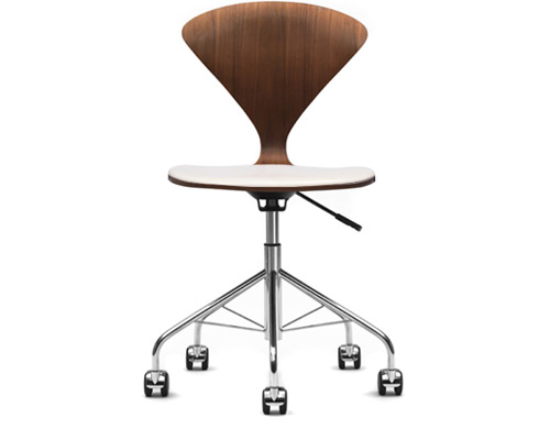 cherner task chair with upholstered seat