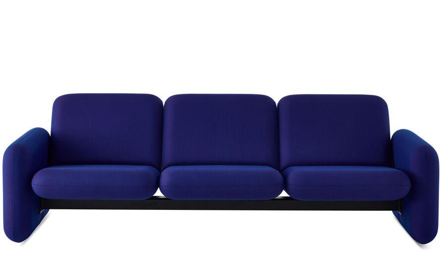 ray wilkes three seat chiclet sofa
