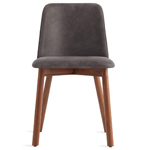 chip leather dining chair  -