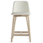 chip leather stool  - blu dot