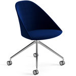 cila fully upholstered chair with trestle base - Altherr & Molina Lievore - arper