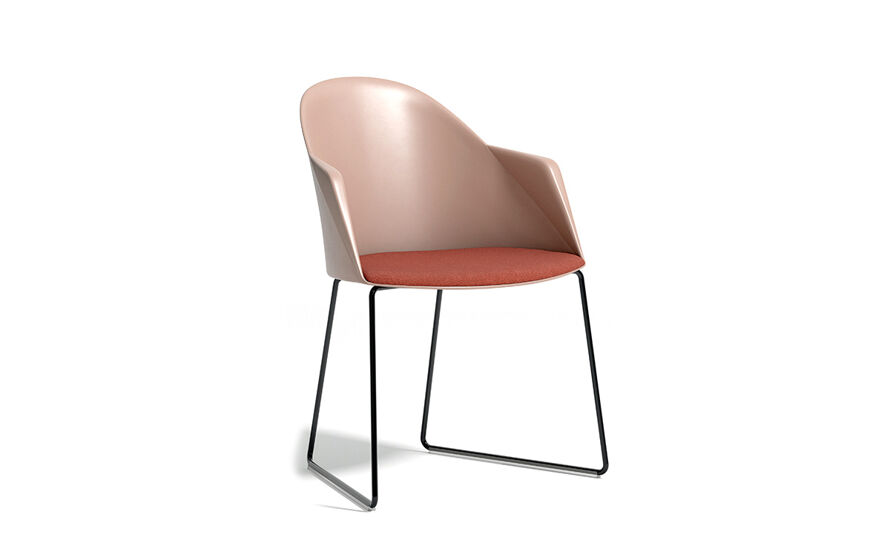 cila polypropylene armchair with seld base