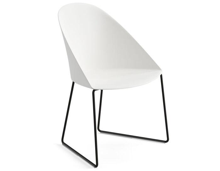 cila polypropylene chair with sled base