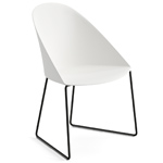 cila polypropylene chair with sled base - Altherr & Molina Lievore - arper
