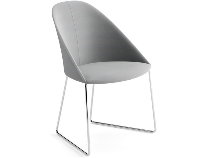 cila upholstered chair with sled base