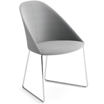 cila upholstered chair with sled base - Altherr & Molina Lievore - arper