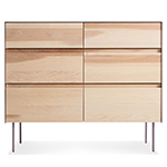 clad 6 drawer dresser  - blu dot
