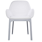 clap chair with embossed fabric  -