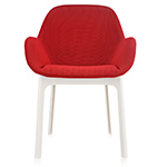 clap chair with solid fabric