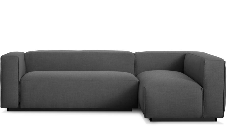 Cleon small sectional sofa hivemoderncom for Small sectional sofa used