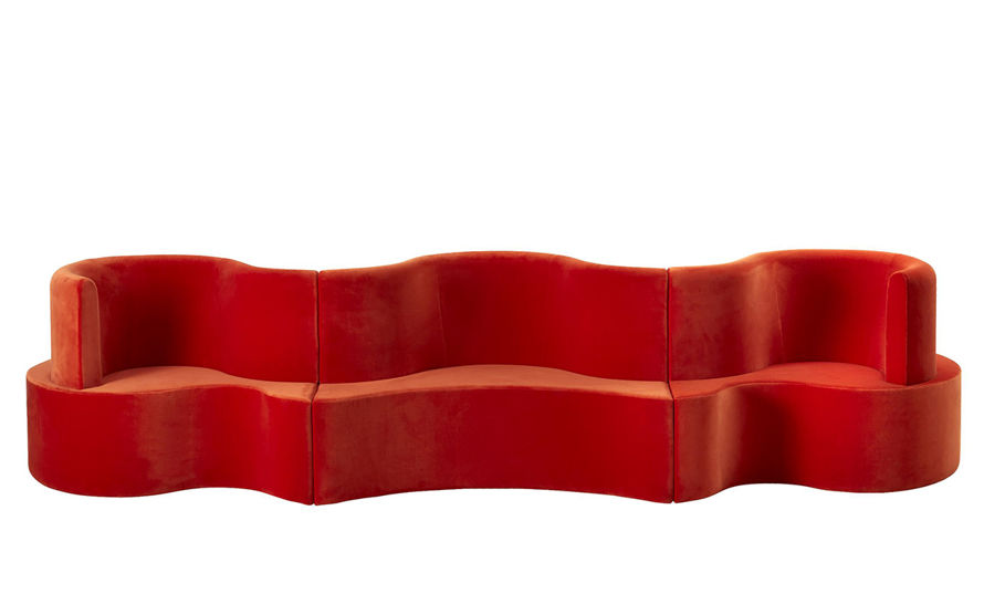 panton cloverleaf 2 unit 1 extension sofa