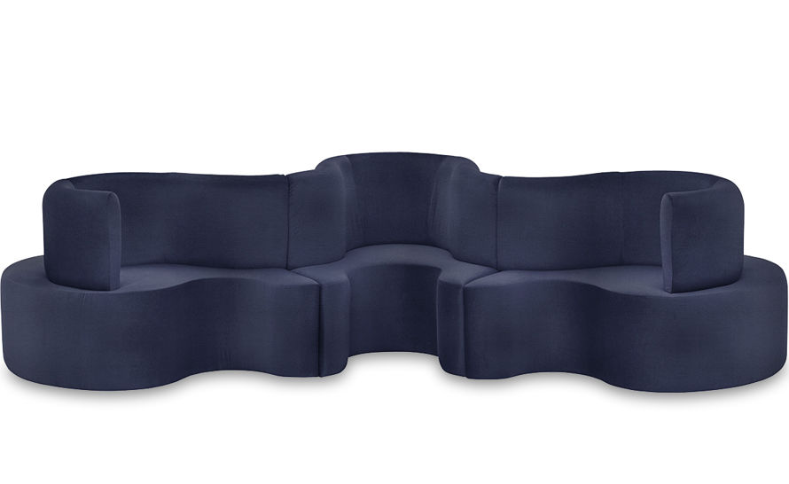 panton cloverleaf 3 unit sofa