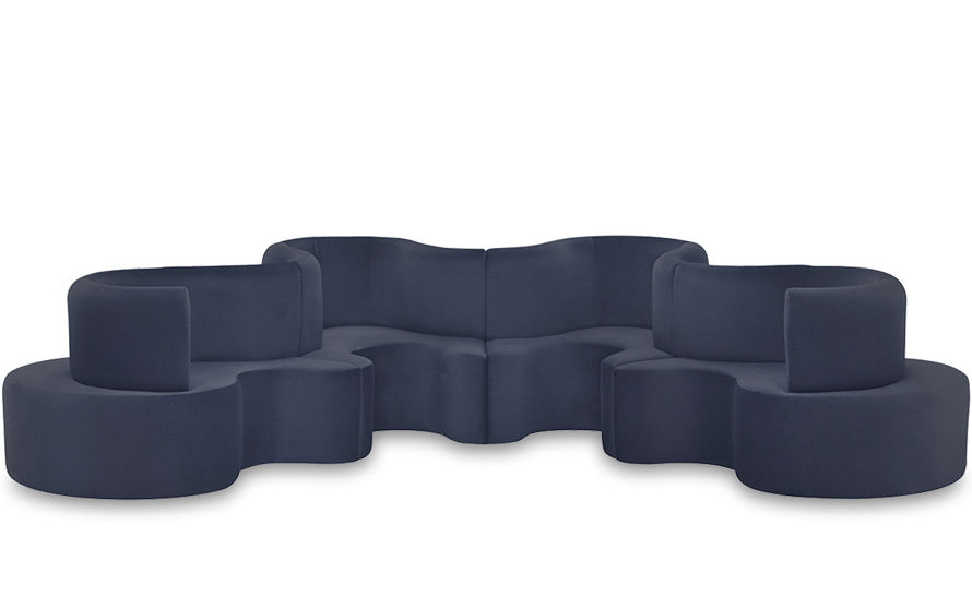 good tolles dekoration verner panton stuhl 4 #1: Panton Cloverleaf 4 Unit Sofa