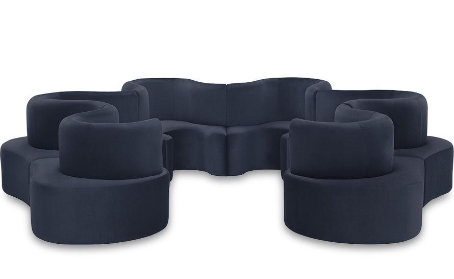 panton cloverleaf 6 unit sofa