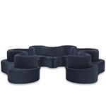 panton cloverleaf 6 unit sofa  -