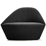 colina fully upholstered large lounge chair - Altherr & Molina Lievore - arper