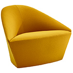 colina fully upholstered medium lounge chair - Altherr & Molina Lievore - arper