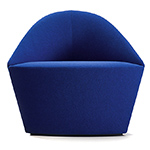 colina fully upholstered small lounge chair  -