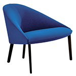 colina lounge chair with 4 leg base - Altherr & Molina Lievore - arper