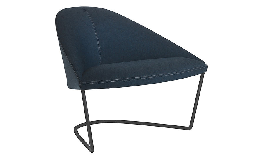 colina lounge chair with cantilever base