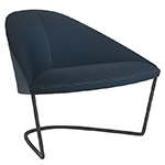 colina lounge chair with cantilever base  -